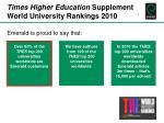 times higher education supplement world university rankings 2010