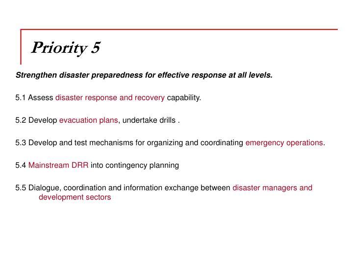 Priority 5