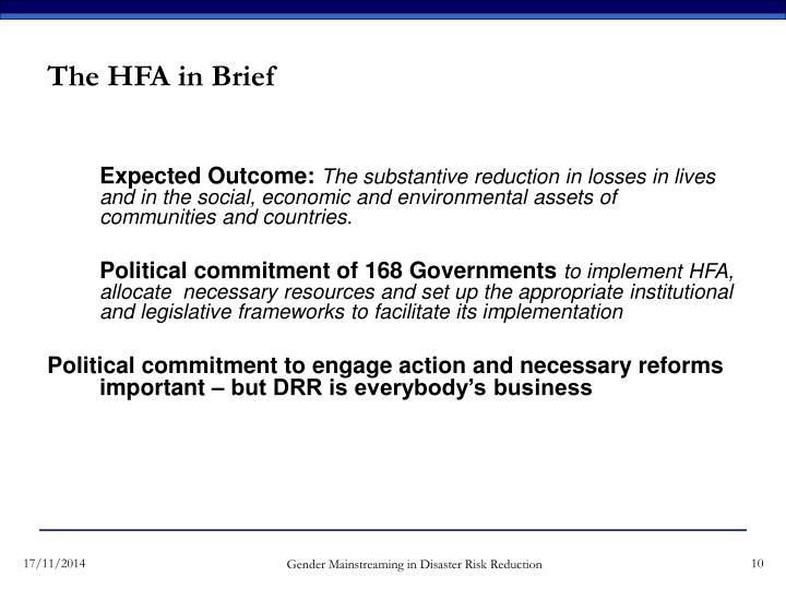The HFA in Brief