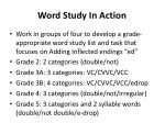 word study in action1