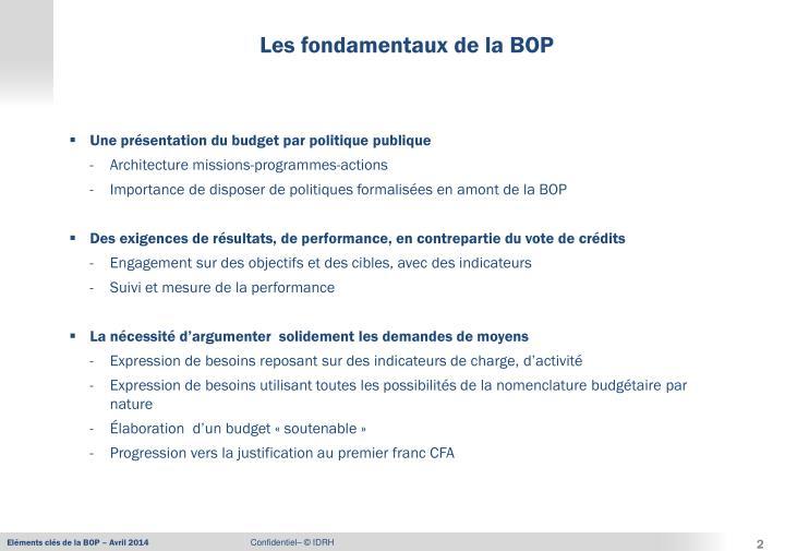 Une présentation du budget par politique publique
