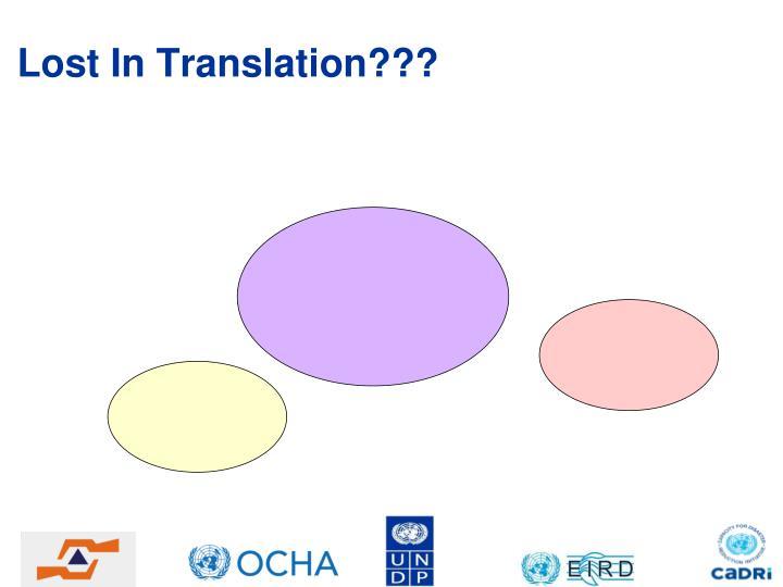 Lost In Translation???