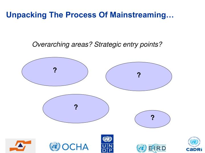 Unpacking The Process Of Mainstreaming…