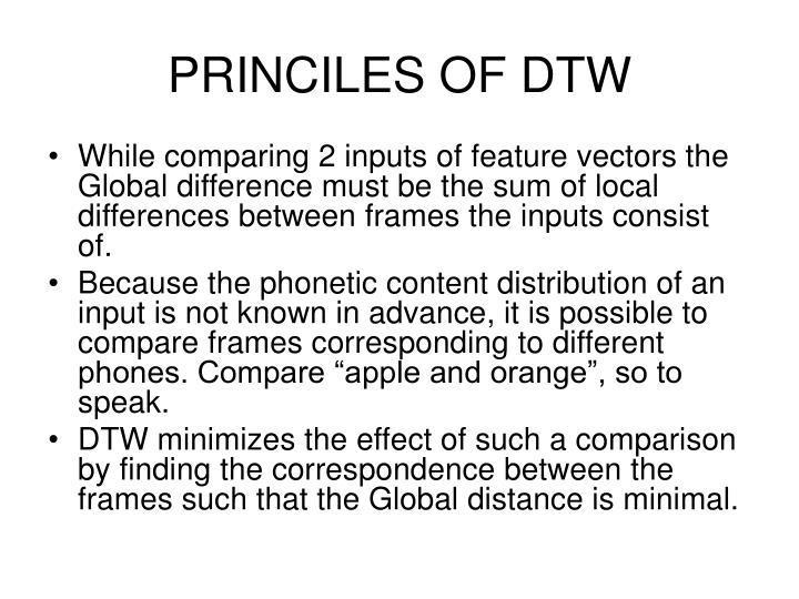 PRINCILES OF DTW