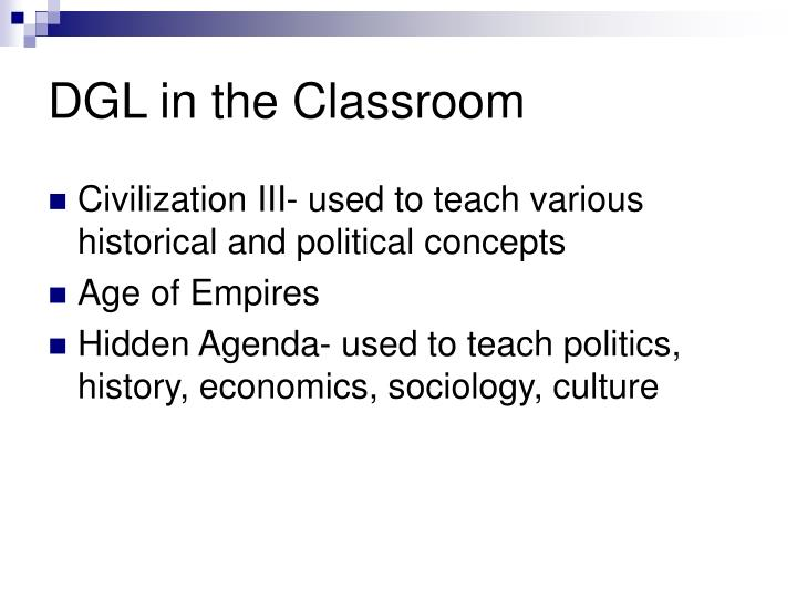 DGL in the Classroom