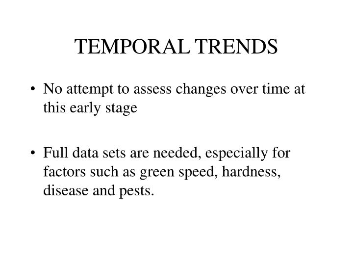 TEMPORAL TRENDS