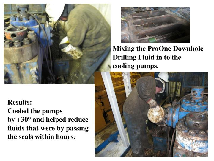 Mixing the ProOne Downhole