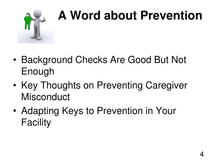A Word about Prevention