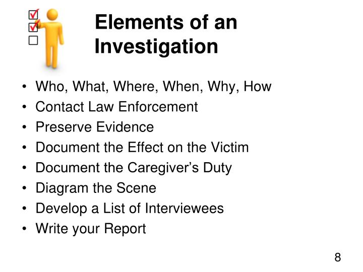 Elements of an Investigation
