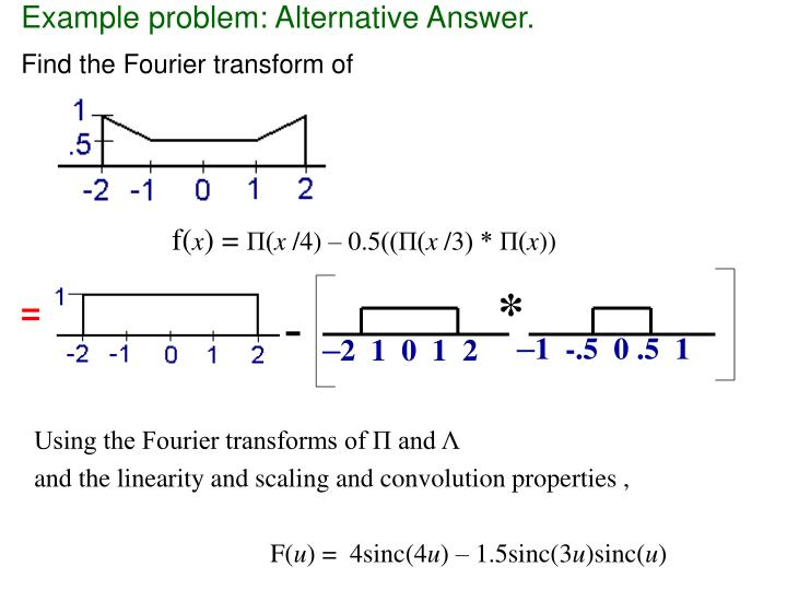Example problem: Alternative Answer.