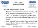 short track ballot 05 2014