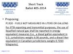 short track ballot 05 20145
