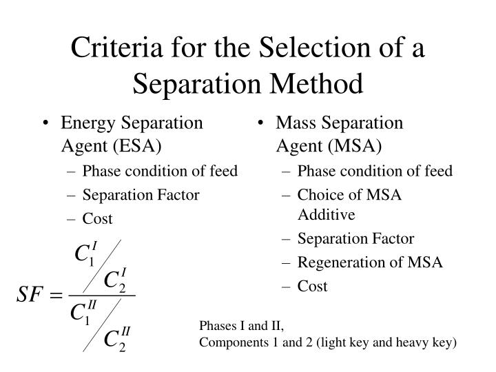 Energy Separation Agent (ESA)
