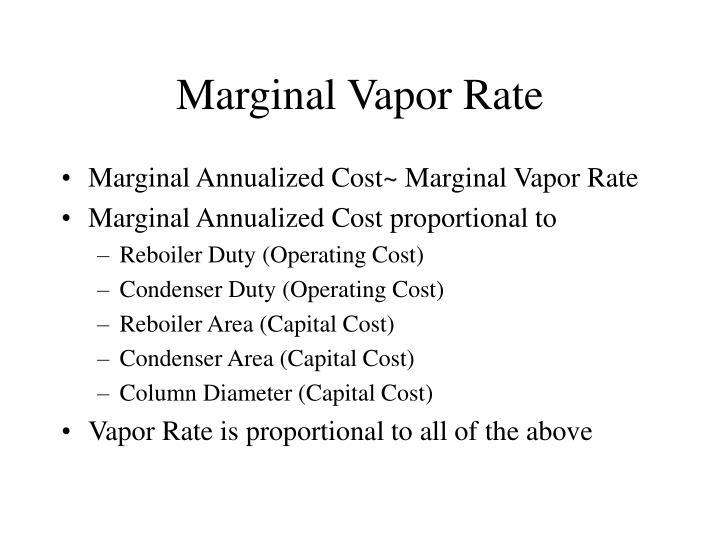 Marginal Vapor Rate