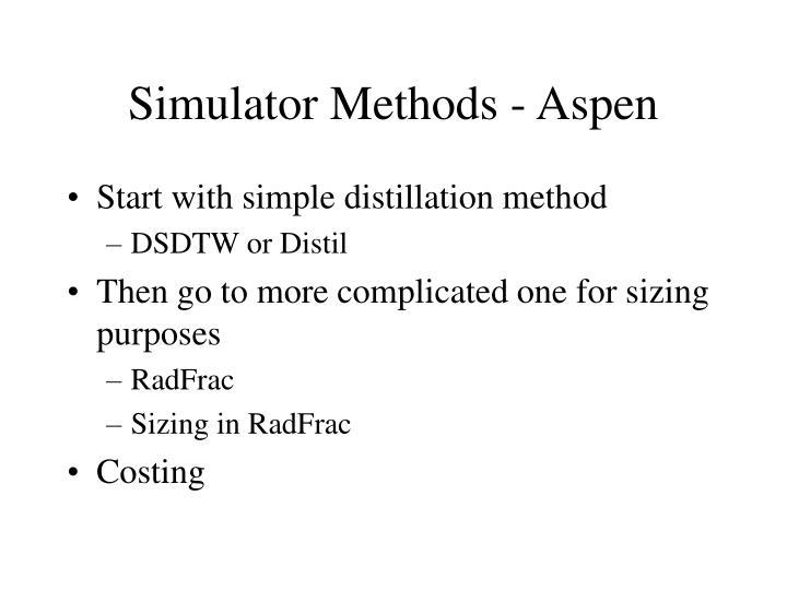 Simulator Methods - Aspen