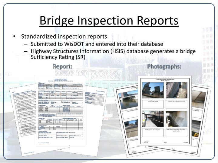 Bridge Inspection Reports