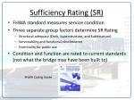 sufficiency rating sr