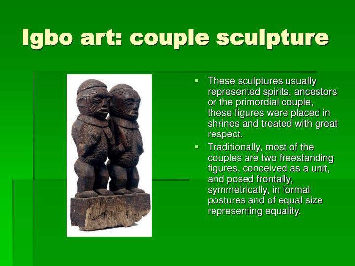 Igbo art: couple sculpture