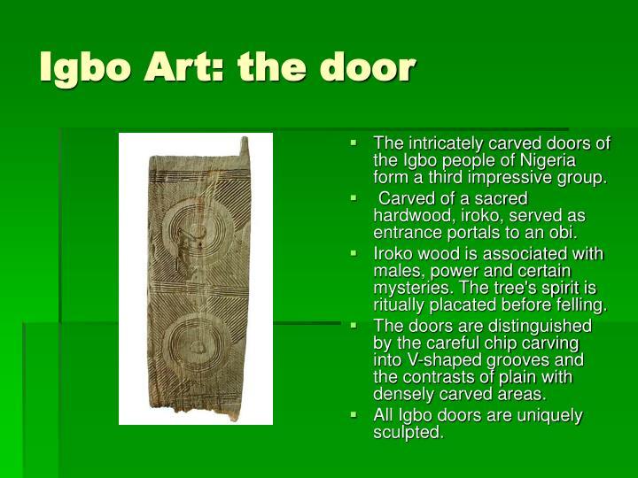 Igbo Art: the door