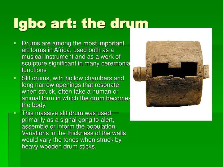Igbo art: the drum