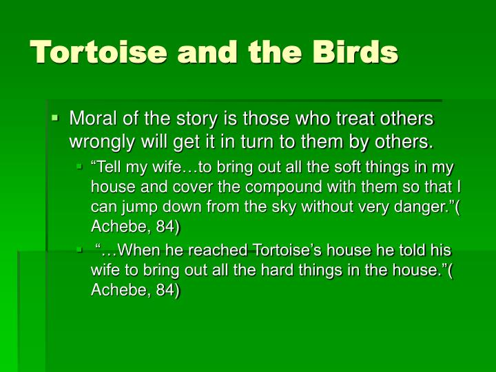 Tortoise and the Birds