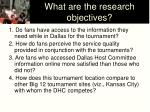 what are the research objectives