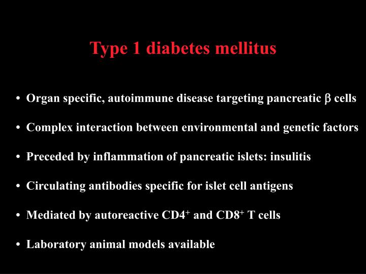 Type 1 diabetes mellitus1