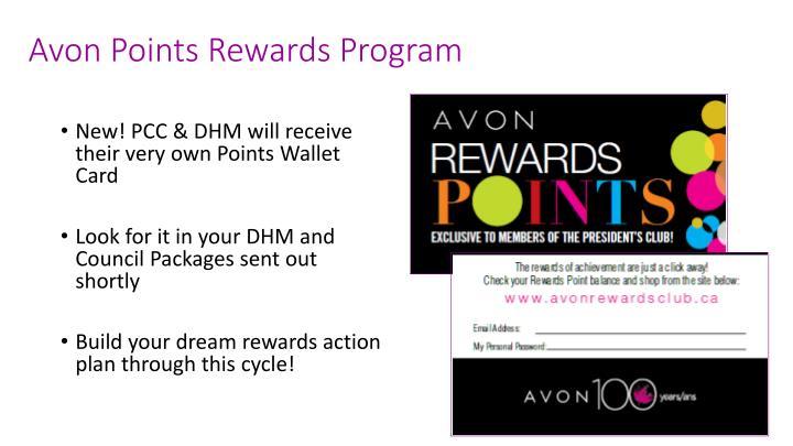 Avon Points Rewards Program