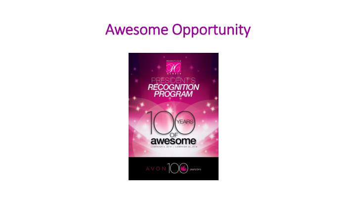 Awesome opportunity