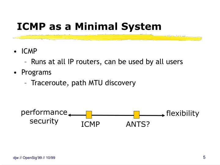 ICMP as a Minimal System