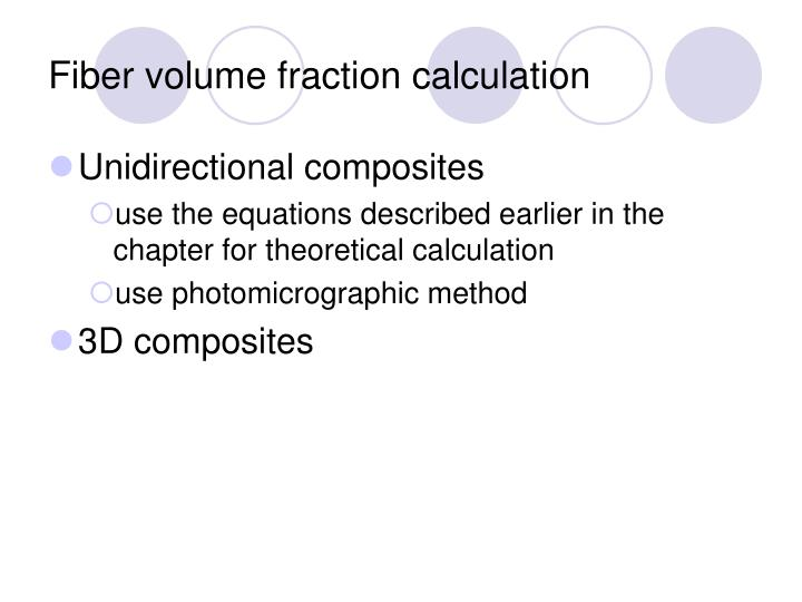 Fiber volume fraction calculation