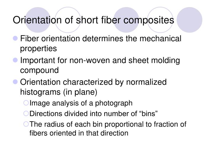 Orientation of short fiber composites