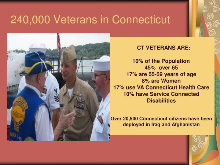 240,000 Veterans in Connecticut