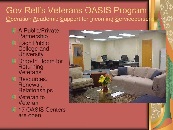 Gov Rell's Veterans OASIS Program