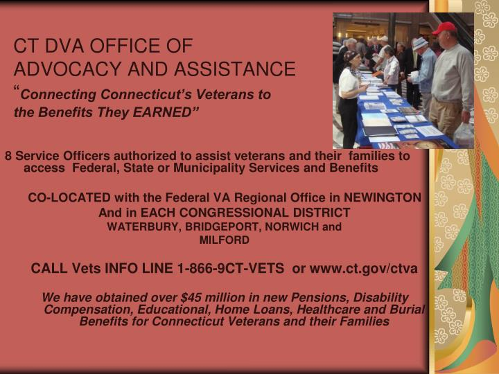 CT DVA OFFICE OF ADVOCACY AND ASSISTANCE