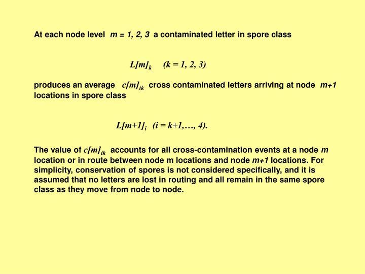 At each node level