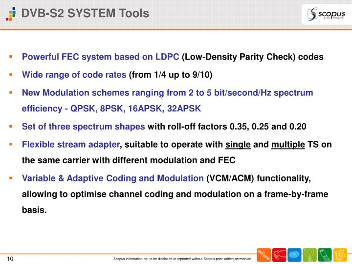 DVB-S2 SYSTEM Tools