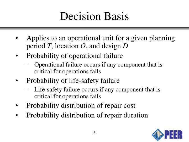 Decision Basis