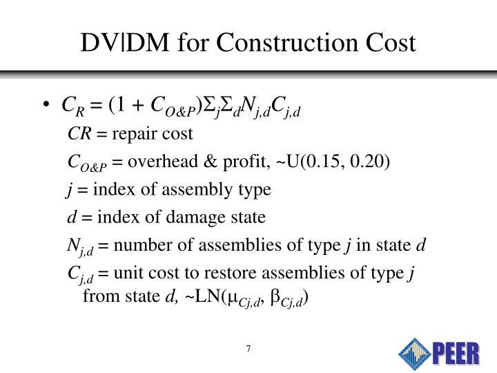 DV DM for Construction Cost