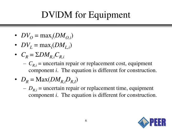 DV DM for Equipment