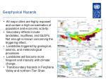 geophysical hazards
