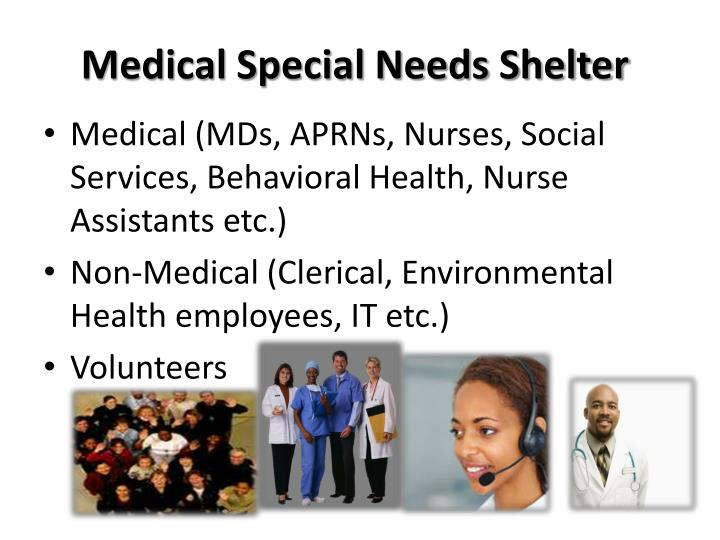 Medical Special Needs Shelter