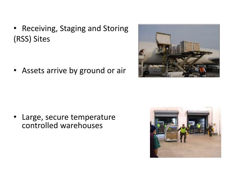 Receiving, Staging and Storing