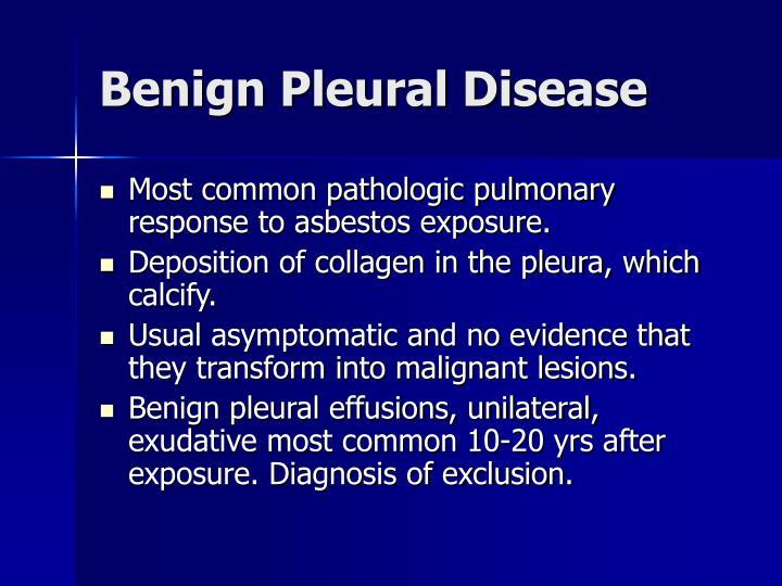 Benign Pleural Disease