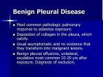 benign pleural disease