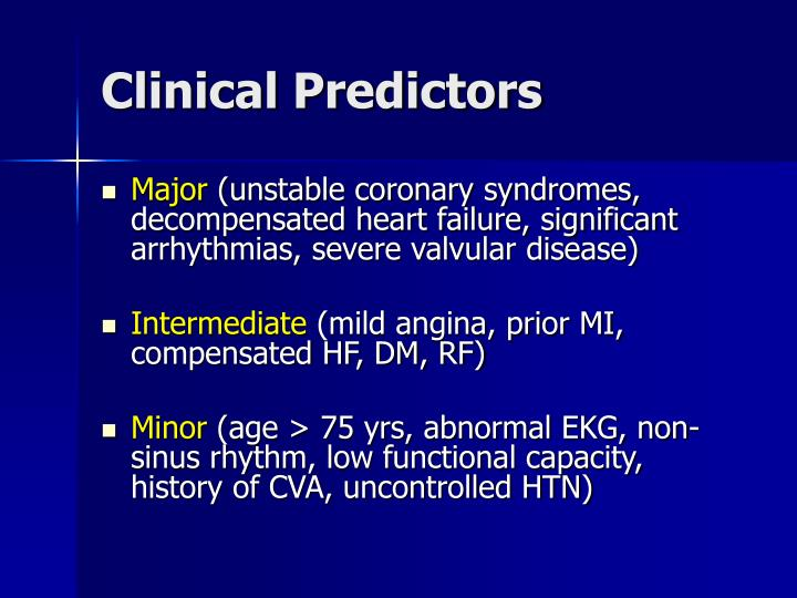 Clinical Predictors