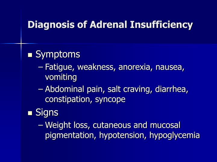 Diagnosis of Adrenal Insufficiency