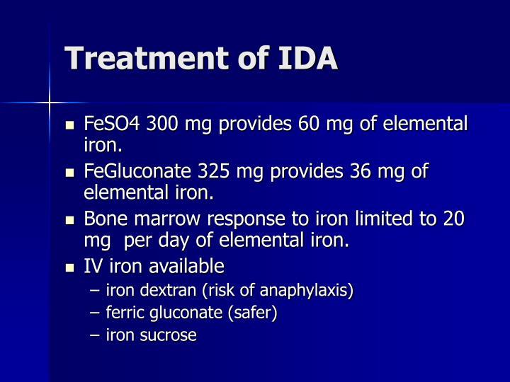 Treatment of IDA