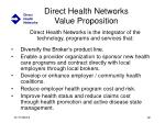 direct health networks value proposition