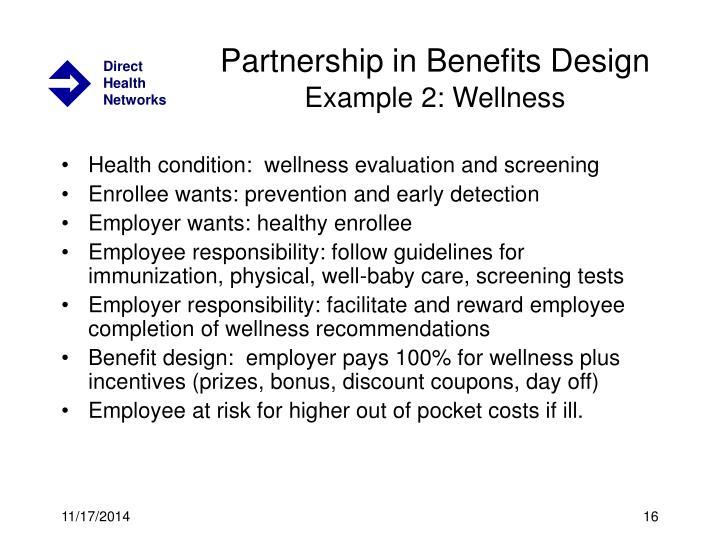 Partnership in Benefits Design
